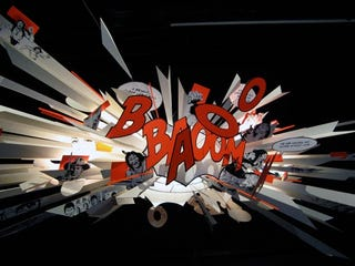 Illustration for article titled BANG BOOM Comic Book Lamp Portrays Perpetual Explosion