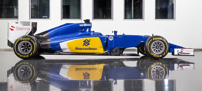 Illustration for article titled Sauber Paints Its F1 Car An Actual Color; IKEA Fans Everywhere Rejoice
