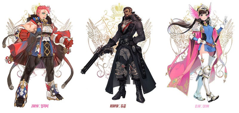 Illustration for article titled Overwatch Characters As Fantasy Heroes