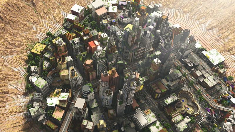 Look At This Fantastic Minecraft City