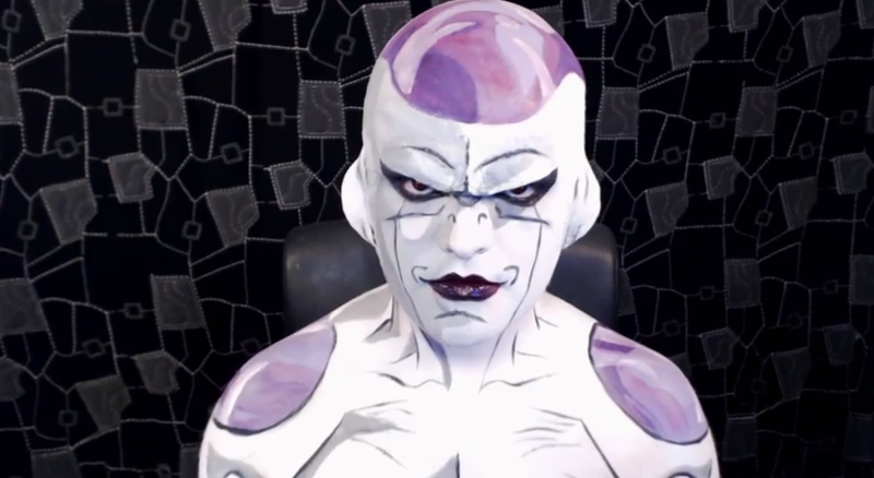 Illustration for article titled Makeup Wizard Turns Himself Into Dragon Ball Z's Frieza