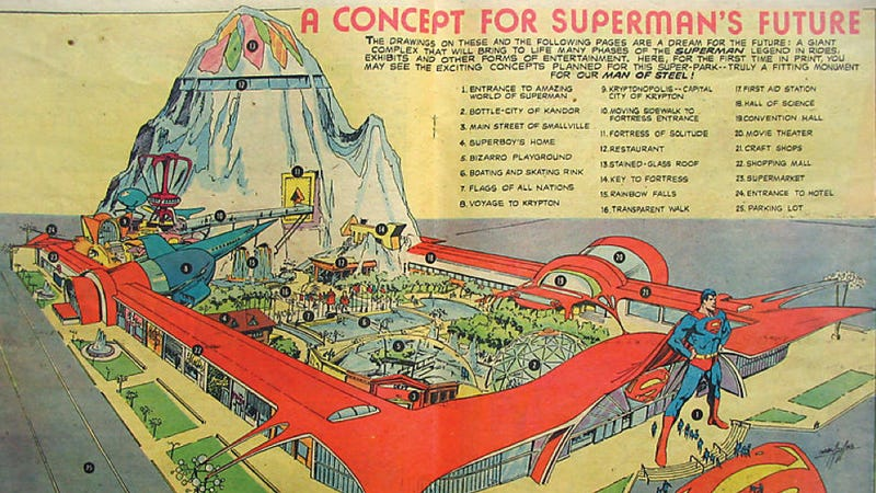 Illustration for article titled How OPEC Killed The Superman Theme Park