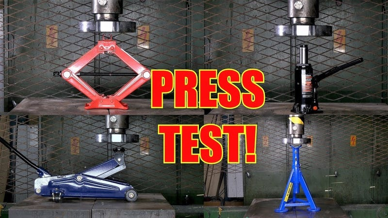 Illustration for article titled A Hydraulic Press Is Here to Determine the Strongest Jack of Them All