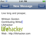 Illustration for article titled iPhone Signature Creator Brings HTML Signatures to iOS Mail