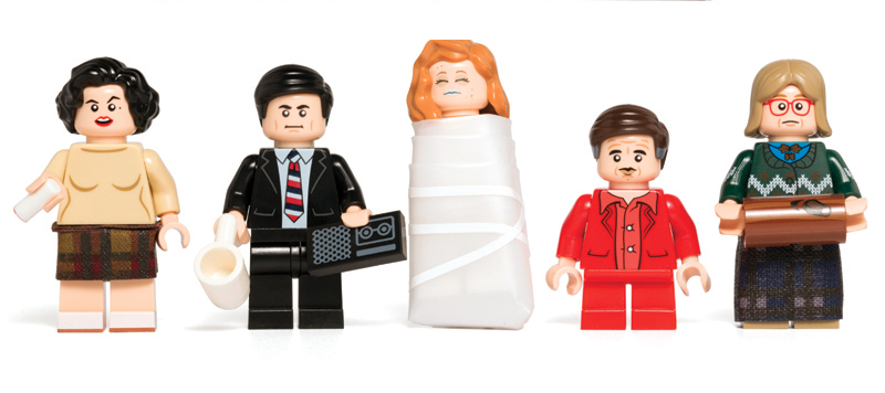 Illustration for article titled Some Damn Fine Lego Twin Peaks Minifigures