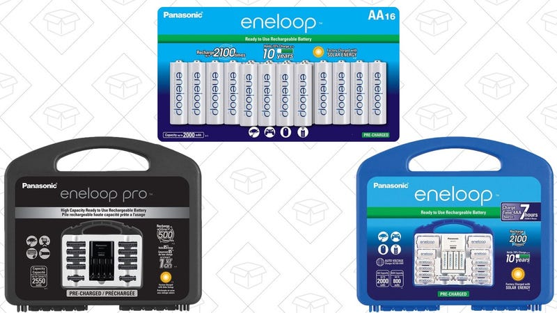 16-Pack Eneloop AA Batteries | $25 | AmazonEneloop Pro Power Pack | $35 | AmazonEneloop Power Pack | $35 | Amazon