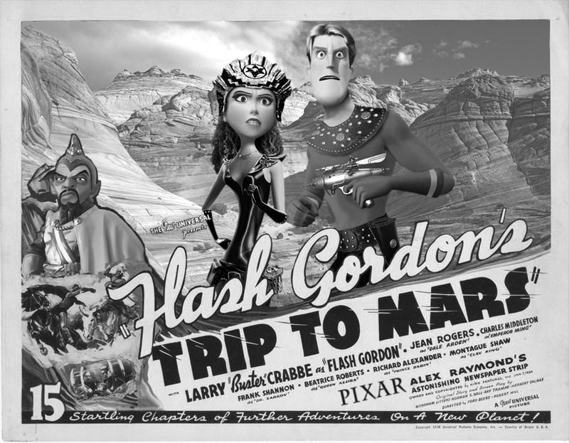 Illustration for article titled What if Pixar remade Flash Gordon and other pulp classics?