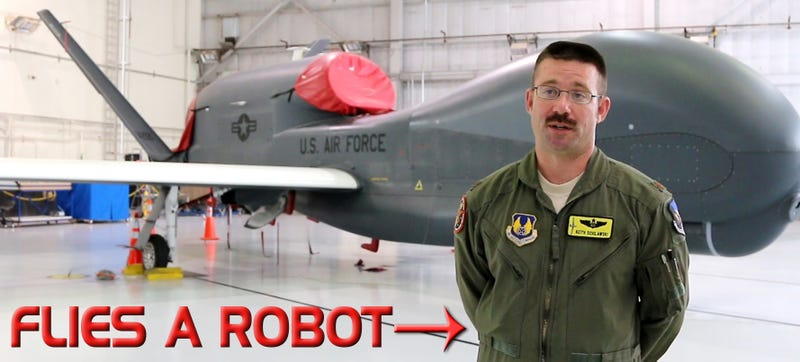 Illustration for article titled This Man Flies The USAF's 16-Ton Drone With The Click Of A Mouse