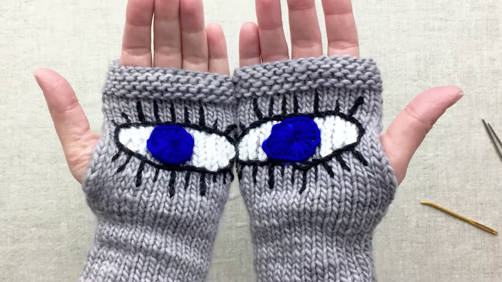 Crochet Gloves With Finger Holes >> How to Knit 'Evil Eye Gloves,' the Pussyhat of the March For Our Lives Rally