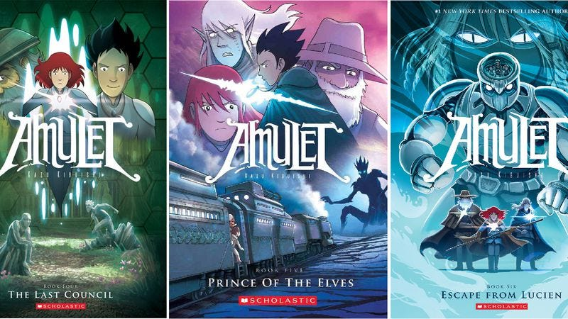Illustration for article titled Fox is adapting Scholastic's charming graphic novel Amulet as a feature film