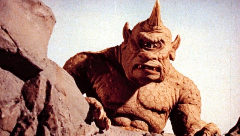 Ray Harryhausen's unforgettable Cyclops from 1958's The 7th Voyage of Sinbad.