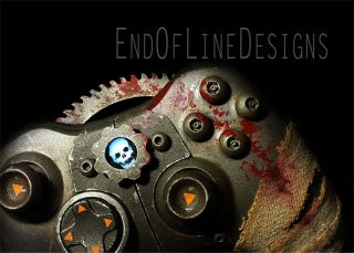 Illustration for article titled Gears Of War Controller Looks Like It Just Chainsawed Someone