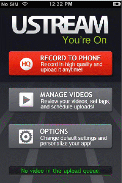 Illustration for article titled UStream iPhone App Finally Allows Video Recording