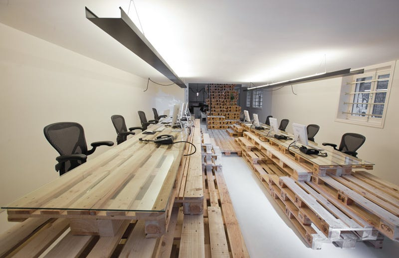 Illustration for article titled Natural Light and Pallets: Inside the Offices of Brandbase - Gallery