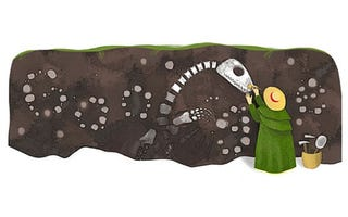 Illustration for article titled Today's Google Doodle: Mary Anning