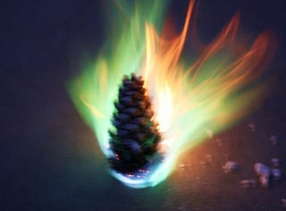 Illustration for article titled Add Flair to Your Holiday Fires with Colorful Pine Cones