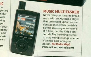 Illustration for article titled PopSci Gets Grubby Paws All Over Upcoming XMp3 Satellite Radio Player