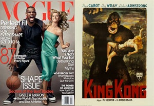 "Illustration for article titled Is Vogue's ""LeBron Kong"" Cover Offensive?"