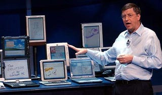 Illustration for article titled Vintage Bill Gates Predicts Tablets to Be the 'Most Popular Form of PC Sold in America'