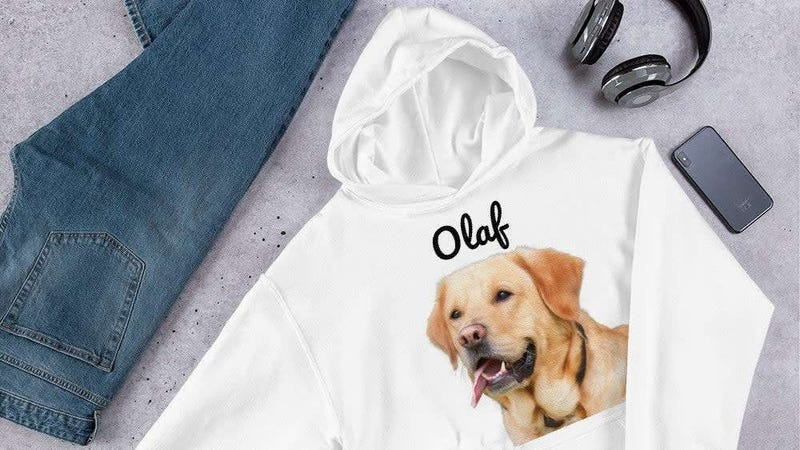 Custom Dog Hooded Sweatshirt | $22 | Etsy