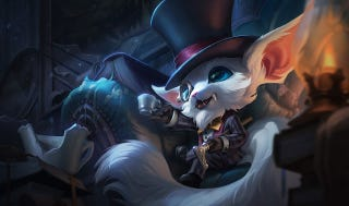 Illustration for article titled League Of Legends' Gentleman Gnar Skin Is Disgustingly Cute