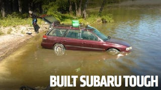 Illustration for article titled This Subaru Started After Sitting On The Bottom Of A Lake For Three Months