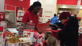 Ishmael Gilbert, 19, was working a cash register at an Indiana Target when an elderly woman used bags of coins to pay for her items. Customer Sarah Owen Bigler was impressed with the young man's patience. Bigler took a photo of the interaction and wrote about it on Facebook. The post has gone viral.Facebook