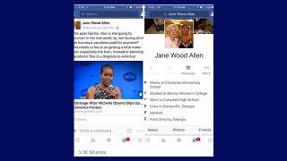 Image of Jane Wood Allen's controversial Facebook postFacebook