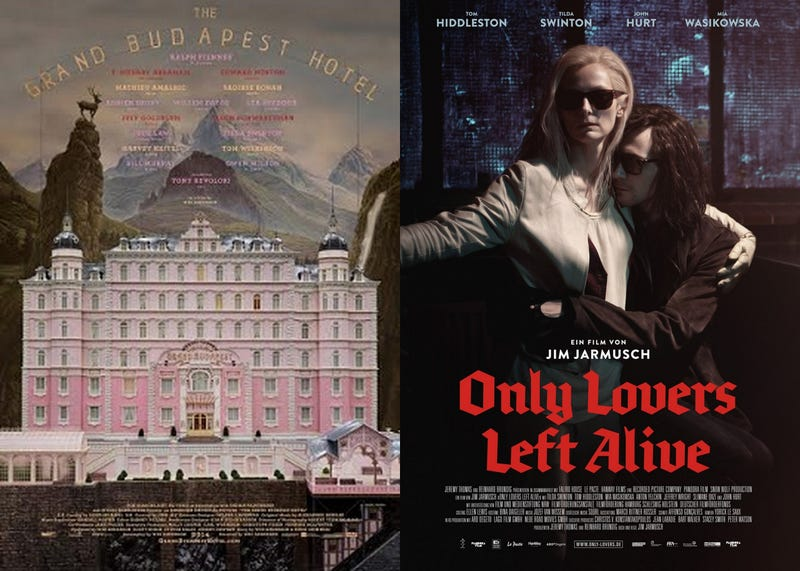 Illustration for article titled Double Feature: 'The Grand Budapest Hotel' and 'Only Lovers Left Alive'