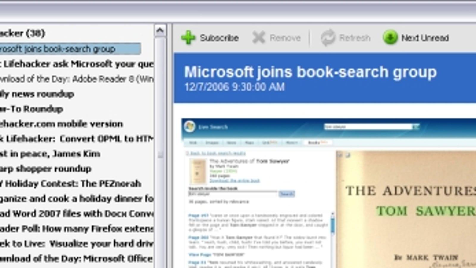 Use Adobe Reader 8 as an RSS reader