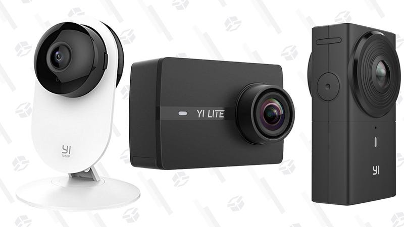 Yi 1080p Security Camera | $29 | AmazonYi 4pc. 1080p Security Camera | $110 | AmazonYi Dash Cam | $31 | AmazonYi 360 VR Action Cam | $280 | AmazonYi Lite 4K Action Cam + Waterproof Housing | $84 | AmazonYi Lite 4K Action Cam | $70 | Amazon