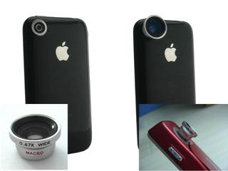 Illustration for article titled Magnetic Mount Lenses Add Wide Angle, Telephoto and Fish-Eye Capabilities to the iPhone