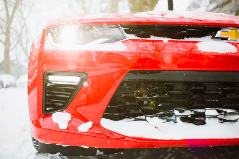 Illustration for article titled A 455 Horsepower V8 Camaro On Snow Tires Is The Best Worst Blizzard Car Ever