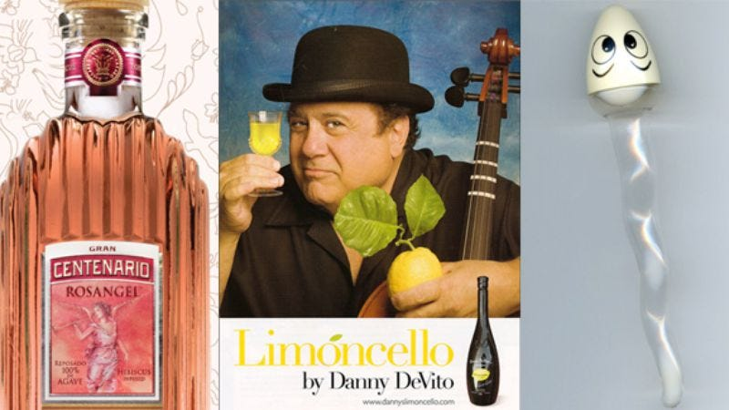 Illustration for article titled Hibiscus tequila, Danny DeVito's limoncello, and Japanese sperm liqueur