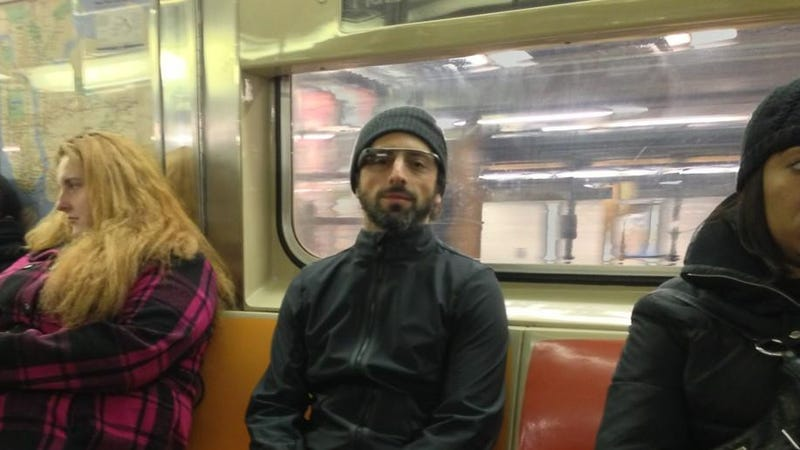 Illustration for article titled When Sergey Brin Rides the Subway, He Does It Wearing Project Glass