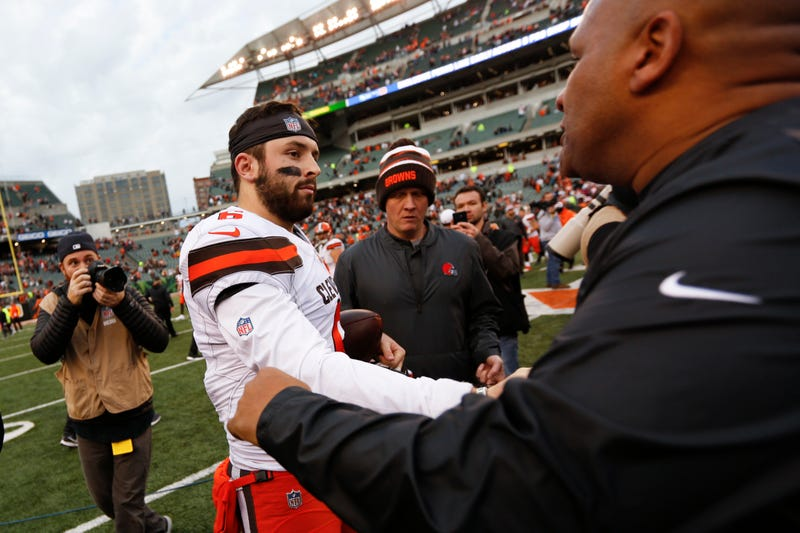 Illustration for article titled Baker Mayfield Is Still Taking Shots At Hue Jackson
