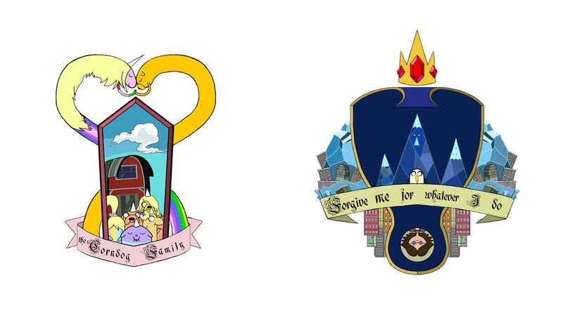 Illustration for article titled The Ancient Heraldic Shields Of... Adventure Time
