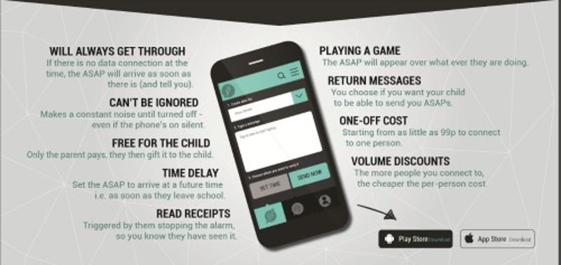 The App Allows Parents To Send Emergency Texts Kids Cant Ignore - 24 smart ass kids definitely know well