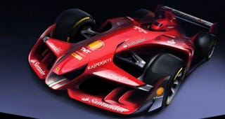 Illustration for article titled This Is Ferrari's Wild Future Of Formula One