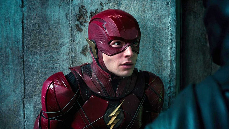 Ezra Miller as the Flash, maybe for the last time.