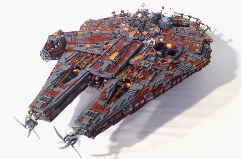 Illustration for article titled Lego Steampunk Millennium Falcon won't make the Kessel Run anytime soon