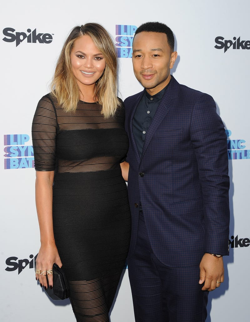 John Legend with his wife, Chrissy Teigen, in North Hollywood, Calif., on June 14, 2016Angela Weiss/Getty Images