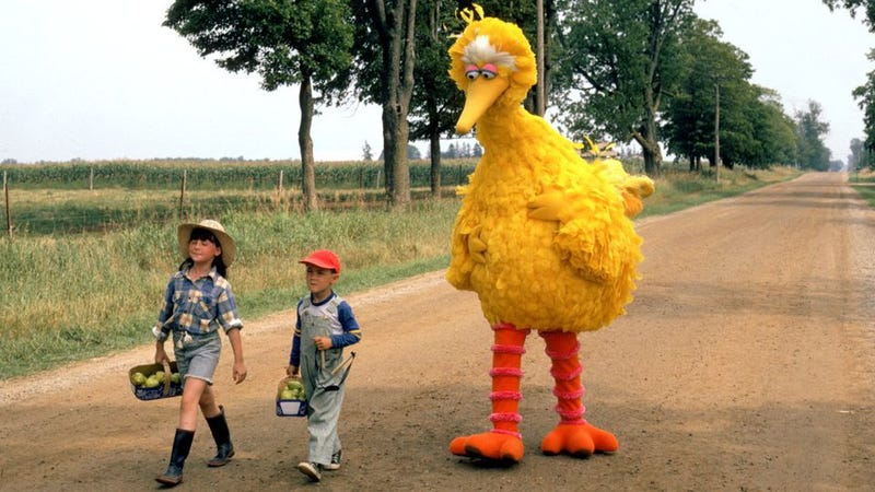 An image from 1985's Follow that Bird, the first Sesame Street movie.