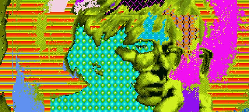 Illustration for article titled Andy Warhol's Lost Amiga Computer Art Rediscovered 30 Years On