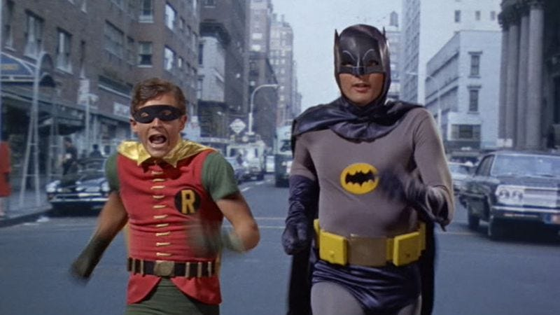 Burt Ward and Adam West in Batman: The Movie