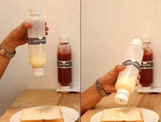 Illustration for article titled Hey, Idiot! Why Didn't You Come Up With the Double-Sided Condiment Bottle?