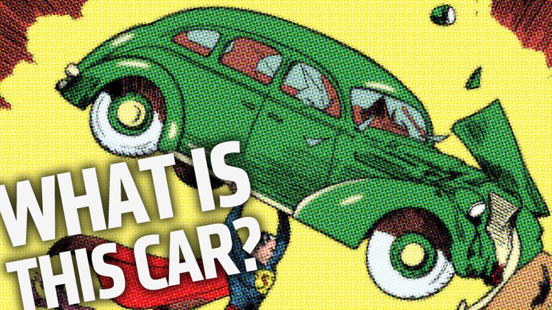 Illustration for article titled What Car Is Superman Trashing On The Action Comics No. 1 Cover?