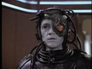 """Illustration for article titled """"Geordi does not wish to be assimilated."""""""