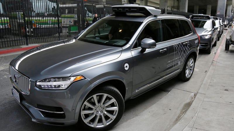 One of Uber's autonomous Volvo XC90s