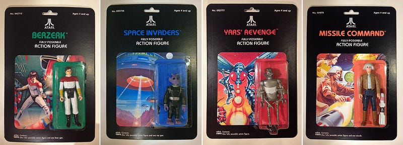 Illustration for article titled Perfect Custom Action Figures Based On Classic Atari Video Game Box Art